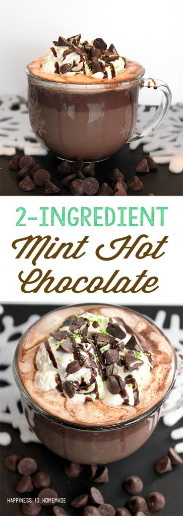 2 Ingredient Mint Hot Chocolate Recipe with Nestle Toll House DelightFulls