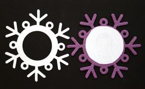 Assembling a Snowflake Photo Ornament