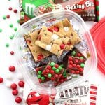 5-Minute M&M's Fudge & White Chocolate Peppermint Cookie Brownie Bars