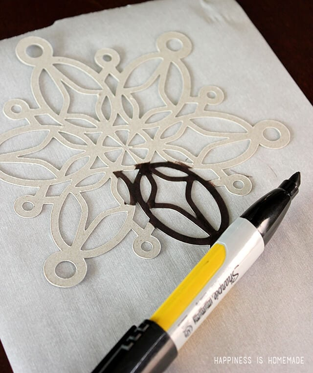 Coloring a Chipboard Snowflake