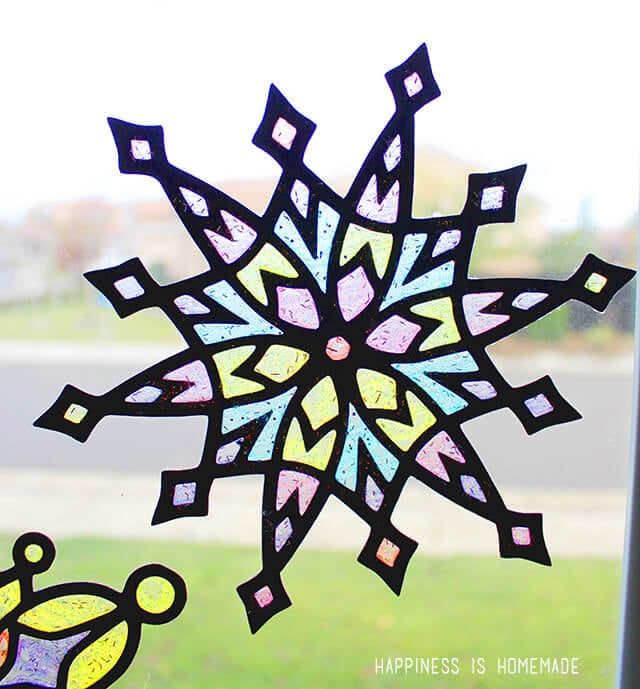 Elmer's Glitter Glue Snowflake Suncatchers