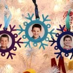 Winter Kids Craft: Snowflake Photo Frame Ornaments