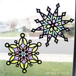"Winter Kids Craft: Glittery ""Stained Glass"" Snowflakes"