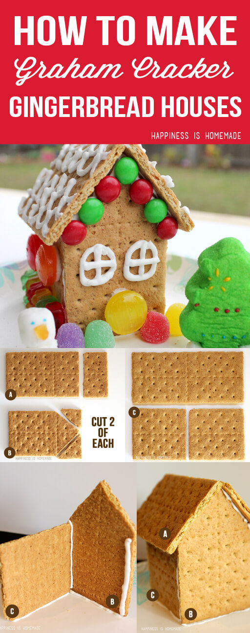 How to make graham cracker gingerbread houses happiness for How do you make a gingerbread house