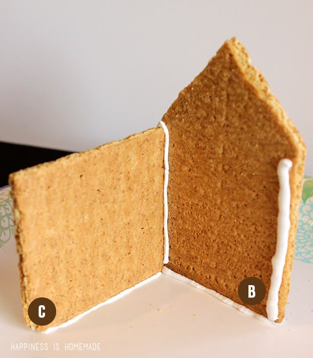 How to Make a graham Cracker Gingerbread House - Step 3