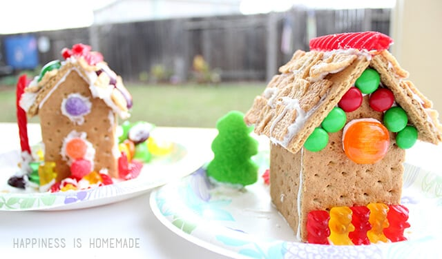 Kid Decorated Graham Cracker Gingerbread Houses