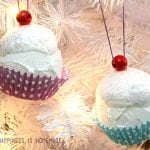 Kid Made Ornaments: Cupcakes