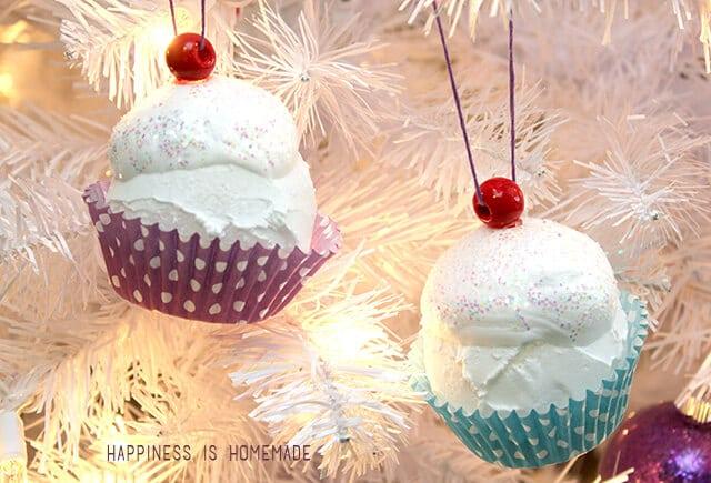Kids Craft Cupcake Ornaments