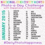 National Creativity Month Photo-a-Day Challenge