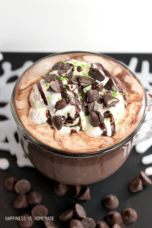 The Best Mint Hot Chocolate Recipe Ever