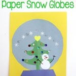 Winter Kids Craft: Paper Snow Globes