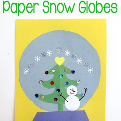 Kids Craft: Paper Snow Globes