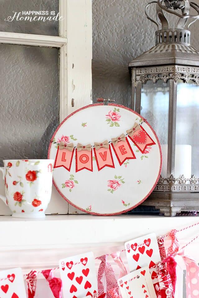 Adorable Valentine's Love Hoop Art