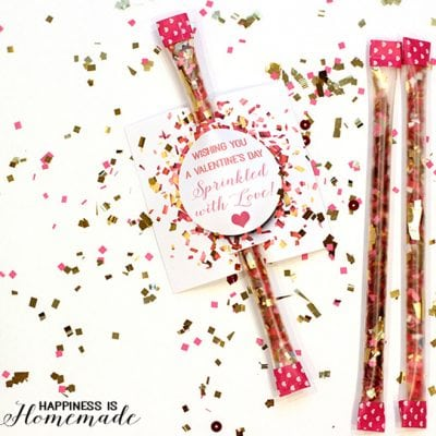 """Sprinkled with Love"" Confetti Valentine"