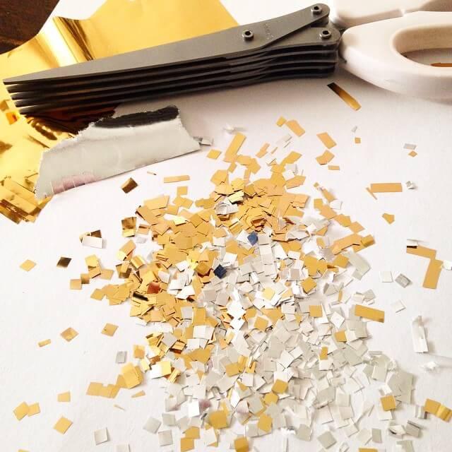 Cutting Confetti with Shredding Scissors