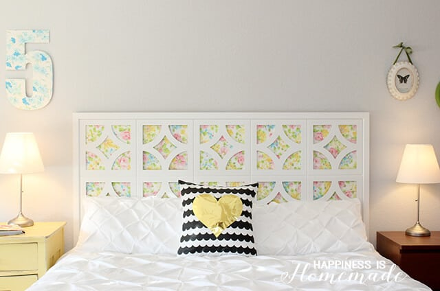 DIY Framework and Floral Headboard