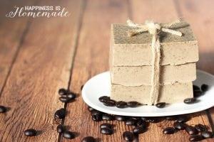 DIY Invigorating Coffee Soap