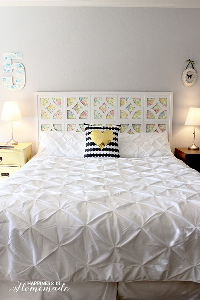 easy diy headboard 1