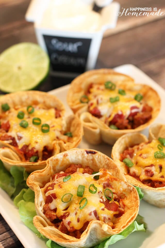 Easy Dinner - 30 Minute Taco Cups Recipe