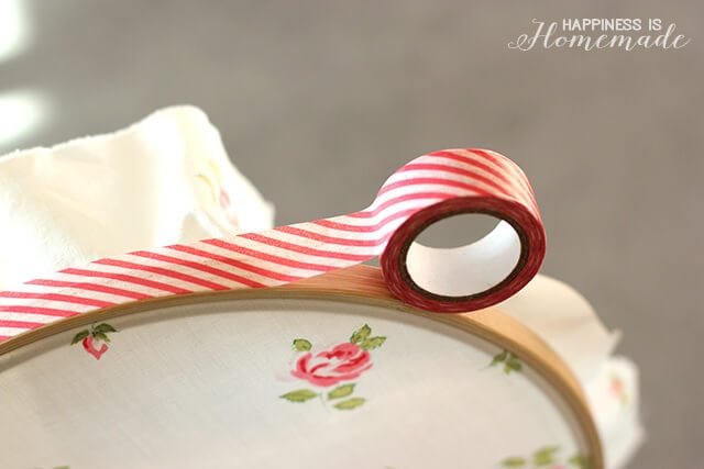 Edging Hoop Art with Washi Tape