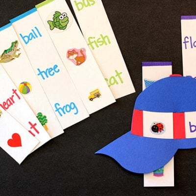 First Words Sliding Hat Activity