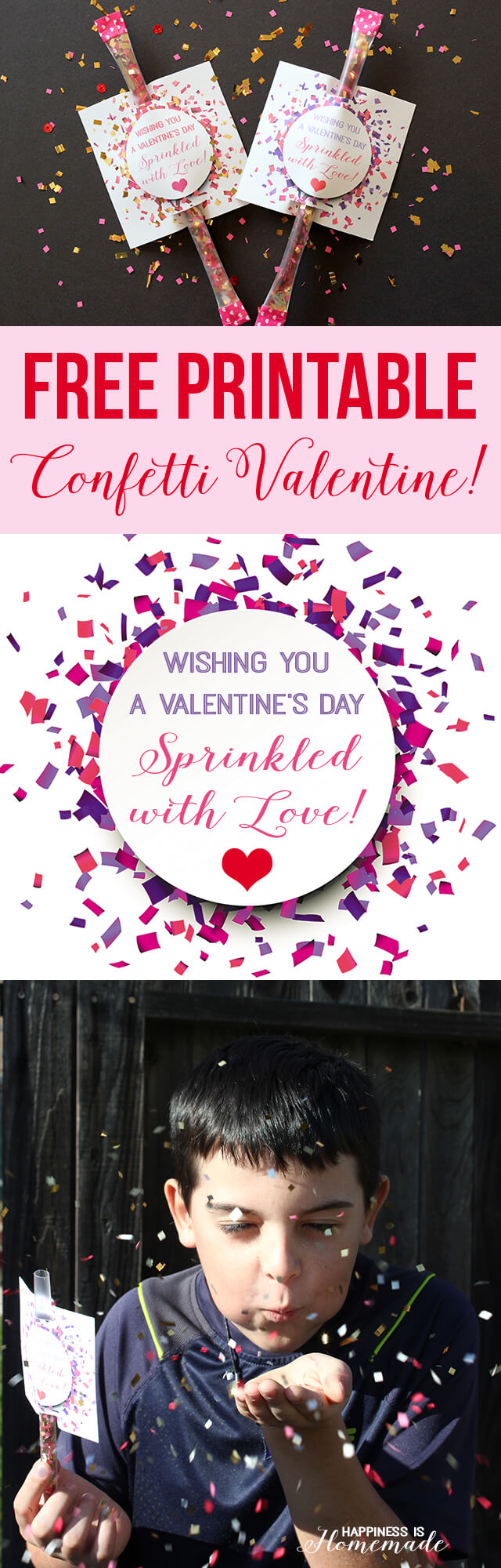 "Sprinkled with Love"" Confetti Valentine - Happiness is Homemade"