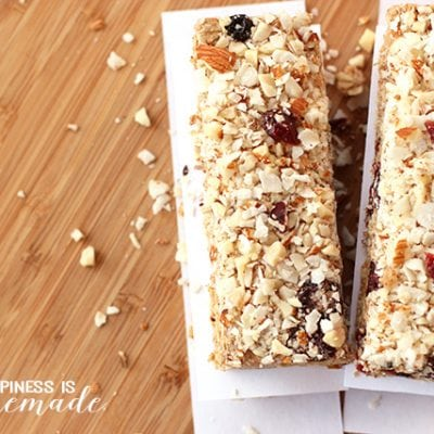No-Bake Berry Coconut Almond Protein Bars