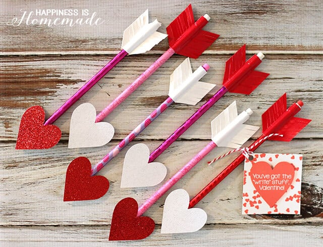 Heart Arrow Pencils for Valentine's Day