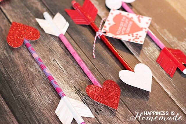 Heart Pencil Arrows For Valentineu0027s Day
