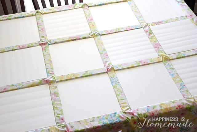 How to Make a Vintage Sheet Headboard
