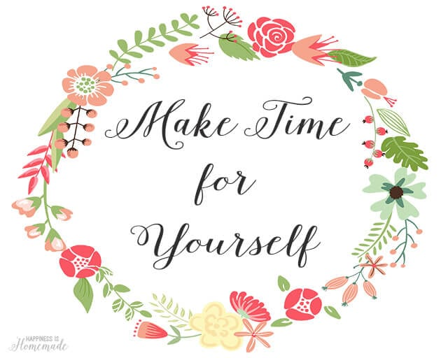 Make Time for Yourself Free Printable