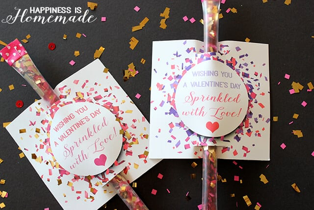 Printable Sprinkled with Love Confetti Valentine