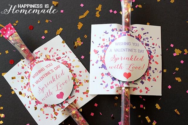 Printable Sprinkled with Love Confetti Valentine