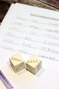Roll a Compound Word Game