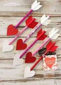 Valentine Heart Pencil Arrows