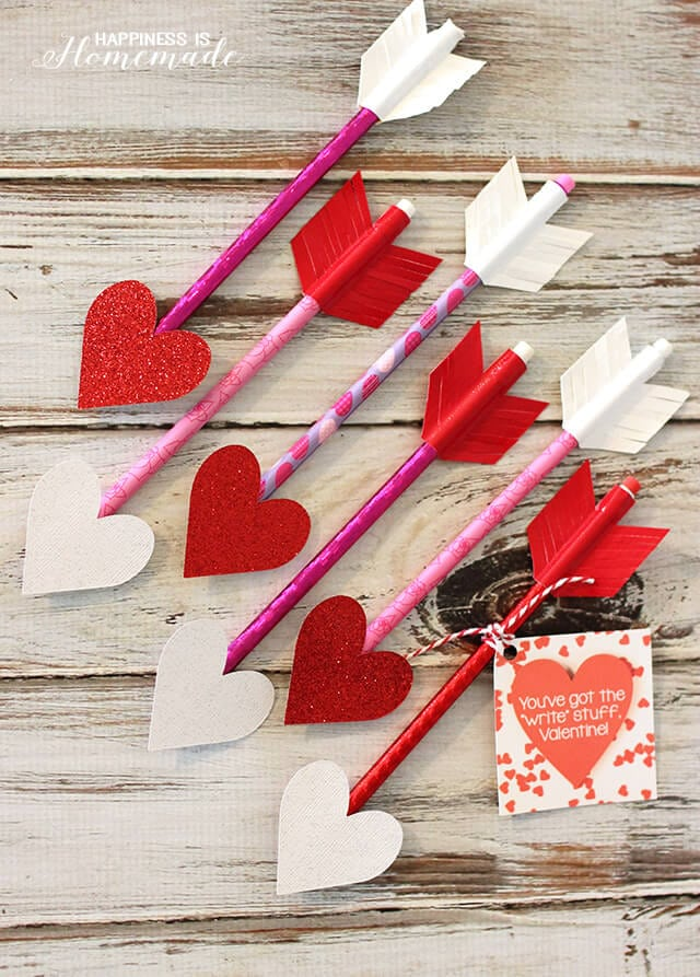 Valentine Heart Pencil Arrows
