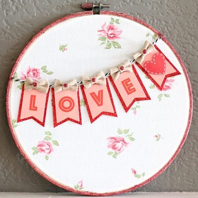 "Valentine's Day ""Love"" Hoop Art"