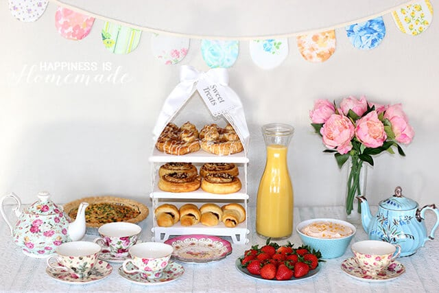 Vintage Style Tea Party Breakfast