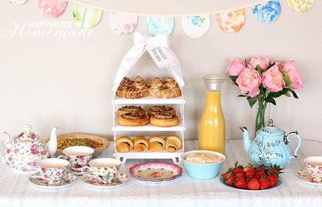 vintage inspired tea party amp easy breakfast ideas