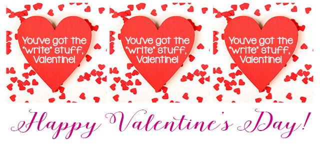 You've Got the Write Stuff Valentine Printable