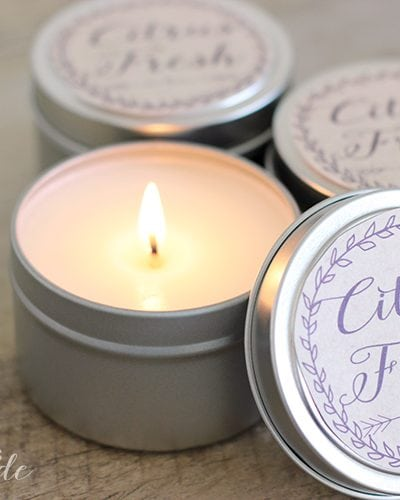 10 Minute DIY Citrus Fresh Candles