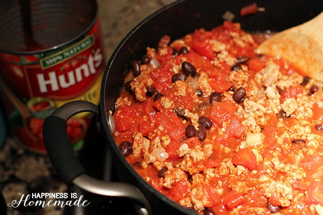 Black Bean and Turkey Chili with Hunts Tomatoes