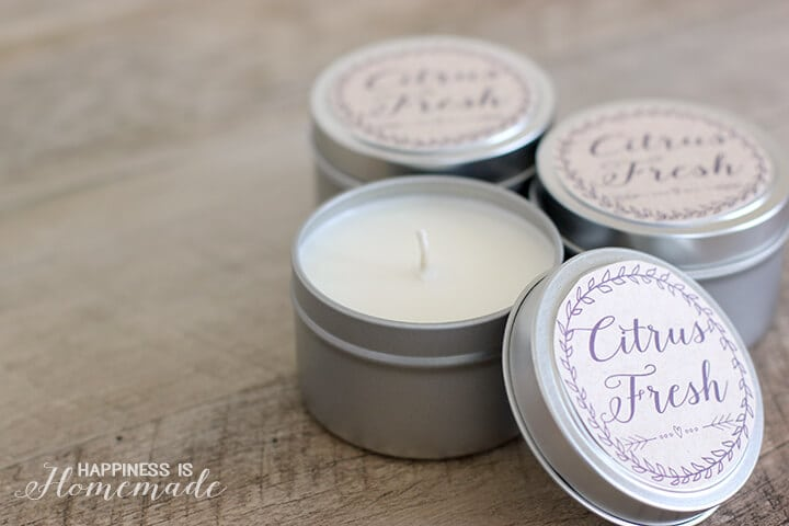10 Minute Gift Idea: Easy DIY Soy Candles