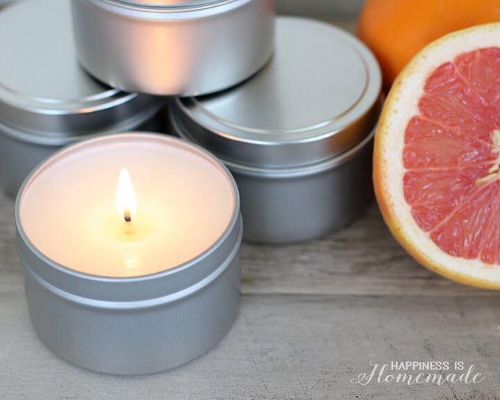 DIY Citrus Fresh Candles - great gift idea
