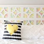 DIY Headboard with Vintage Sheets and Cut It Out Frames Slider