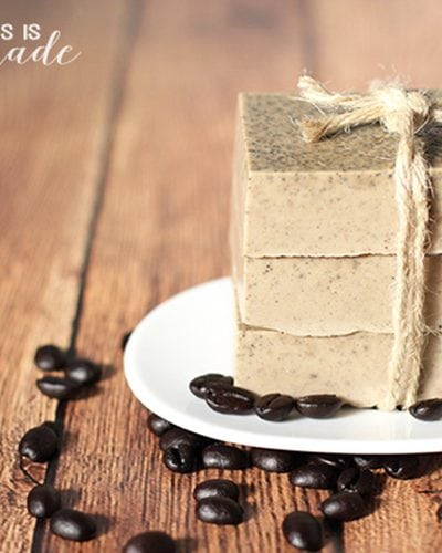 DIY Invigorating Coffee Soap Slider