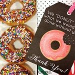 Free Printable Donut Thank You Note Tags Slider