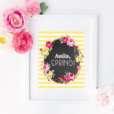 """""""Hello, Spring!"""" Free Printable"""