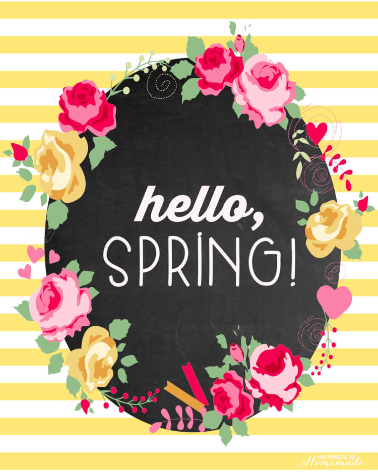 This is an image of Rare Free Spring Printables