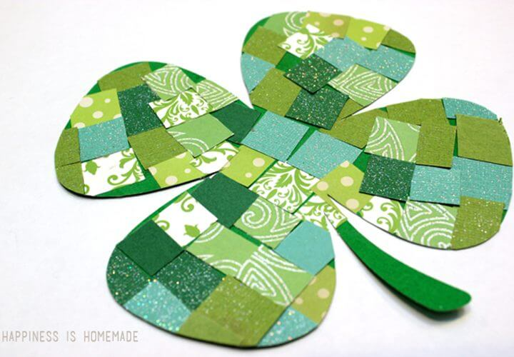 St. Patrick's Day Kids Craft: Mosaic Paper Shamrocks